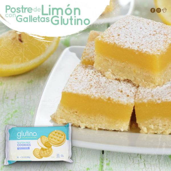 Postre de limón con galletas Glutino