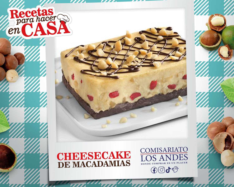 Cheesecake con macadamias